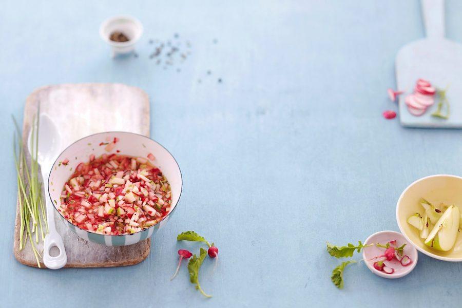Vinaigrette aux radis et à la pomme