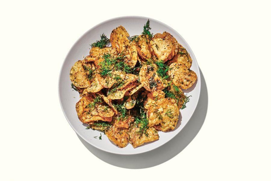 <pre>Chips de pommes de terre à l'oignon