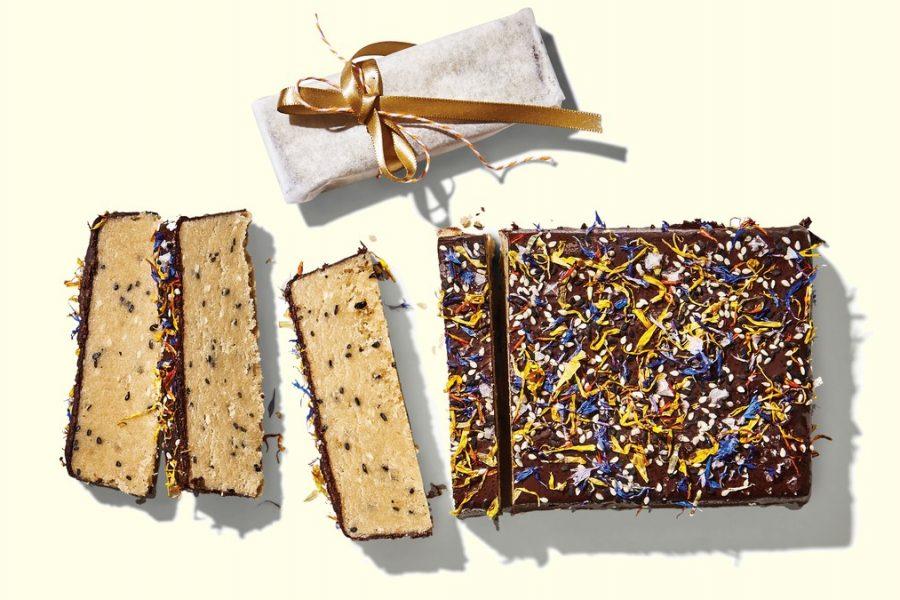 <pre>Halva au chocolat salé