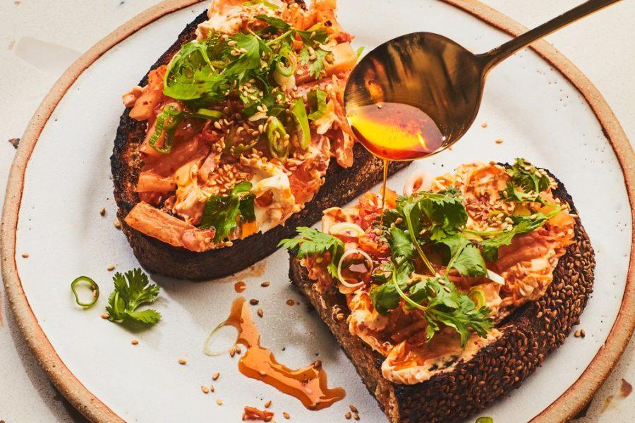 <pre>Kimchi Toast