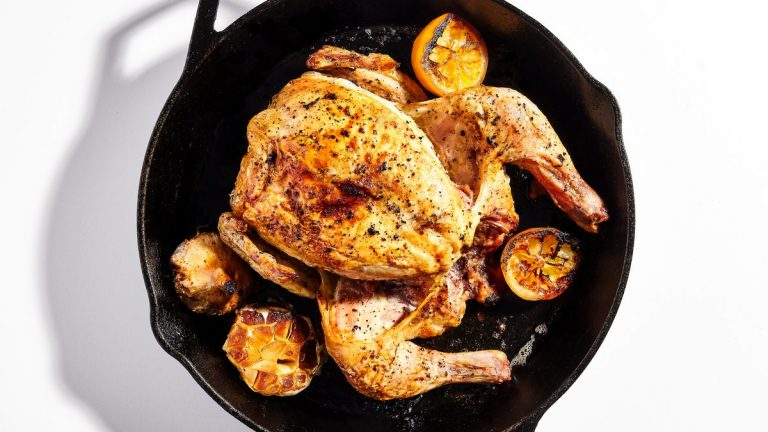 Poulet rôti sans faille au citron et à l'ail