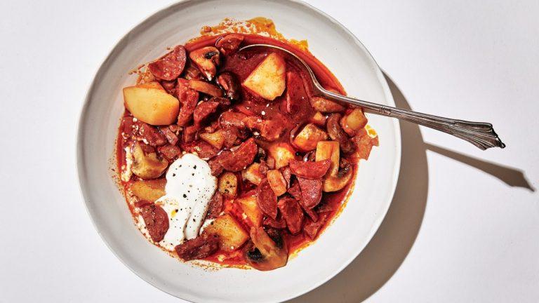 Ragoût de chorizo et pommes de terre