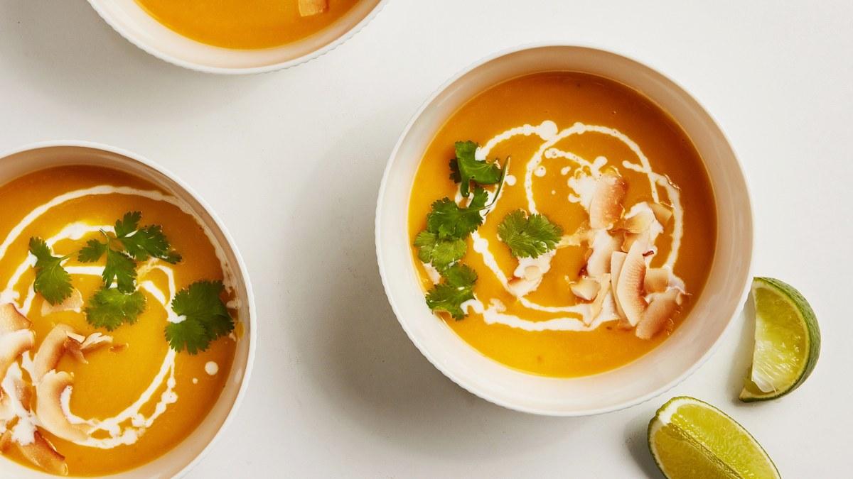 <pre>Soupe végétalienne à la courge musquée