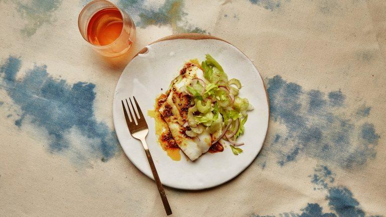 Feuilleté Morue Avec Salade De Céleri