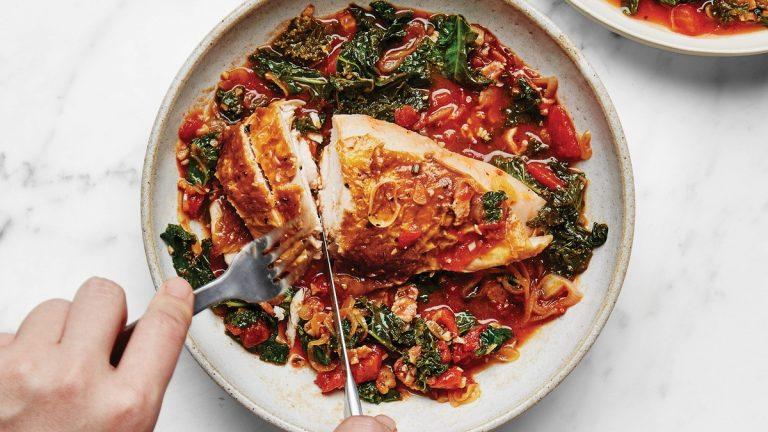 Poulet rôti aux tomates