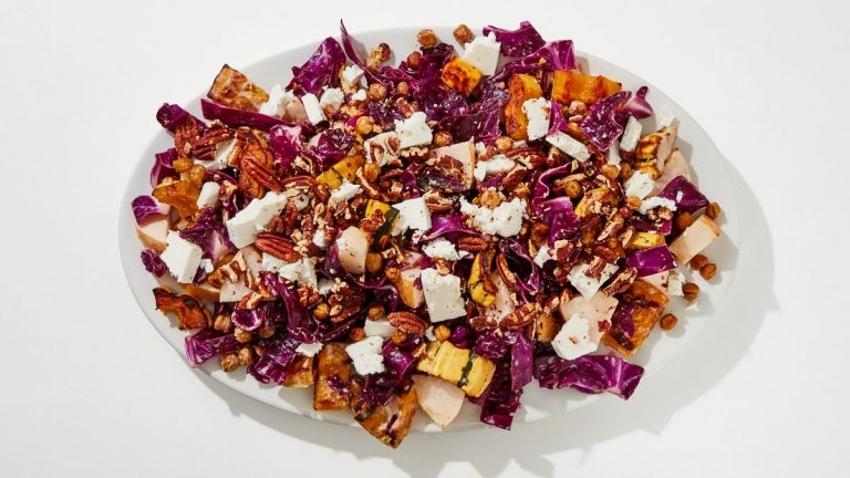 Salade crue et rôtie