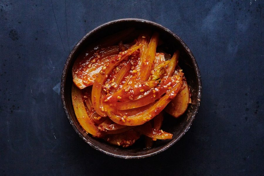 <pre>Fenouil croustillant de Gochujang