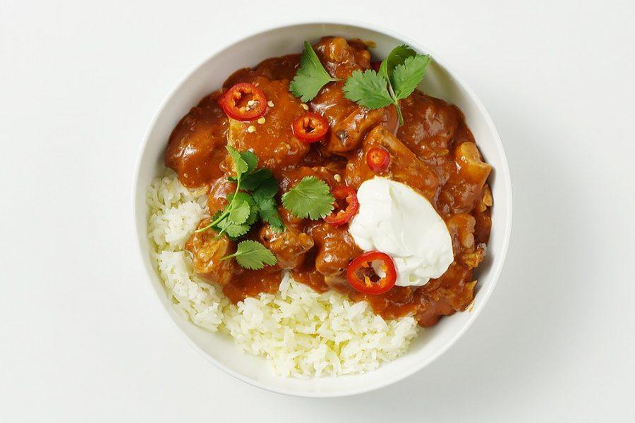 <pre>Poulet Tomates Au Curry