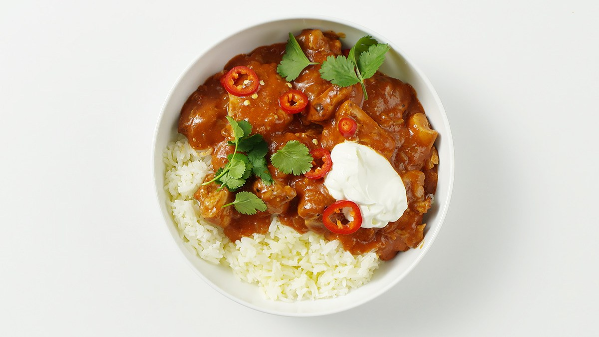 Poulet Tomates Au Curry