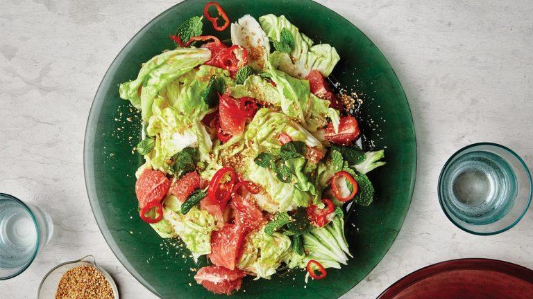 Salade de chou au pamplemousse