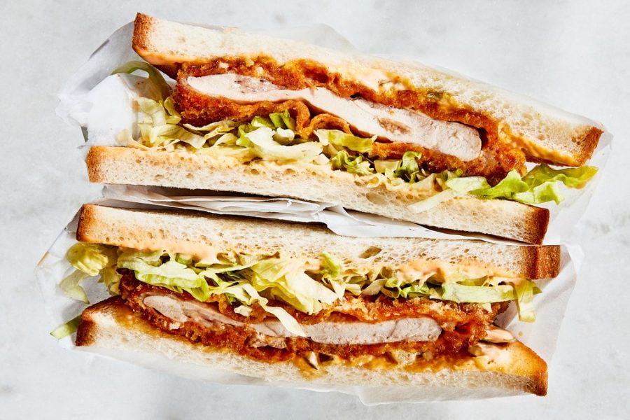 <pre>Sandwichs au poulet Katsu
