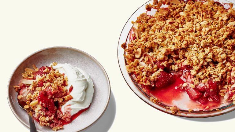 Crisp aux fraises et au granola