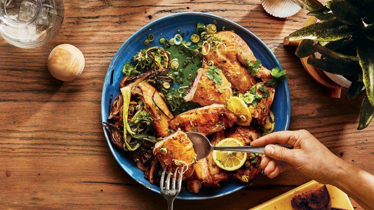Poulet au citron et aux oignons