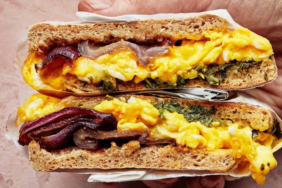 <pre>Sandwichs aux œufs à l'oignon
