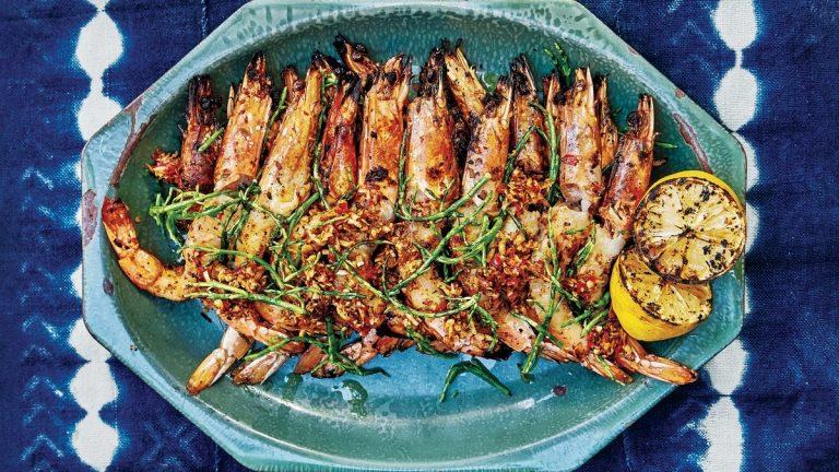 Crevettes Grillées Avec Palapa