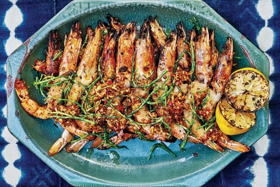 <pre>Crevettes Grillées Avec Palapa