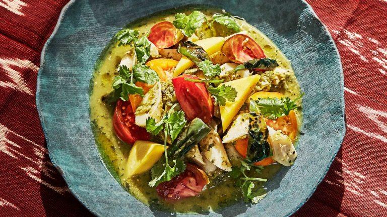 Salade De Tomates Et De Mangue
