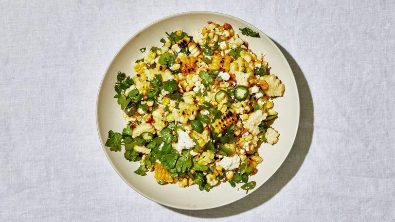 Salade de maïs grillée