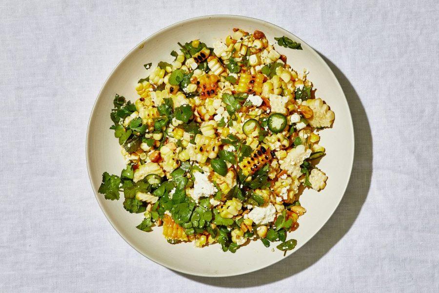 <pre>Salade de maïs grillée