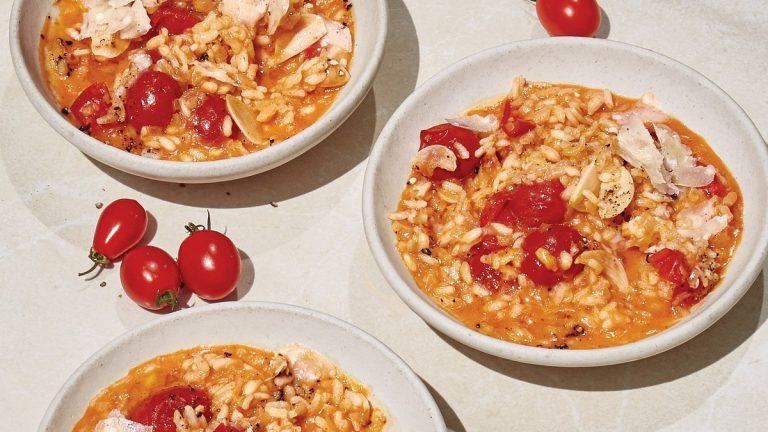 Risotto aux tomates et au parmesan