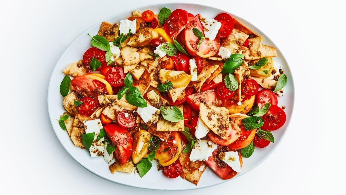 <pre>Salade de tomates fantaisie et belle
