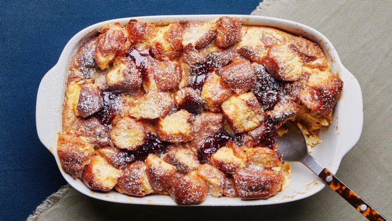 Pudding de pain aux beignes