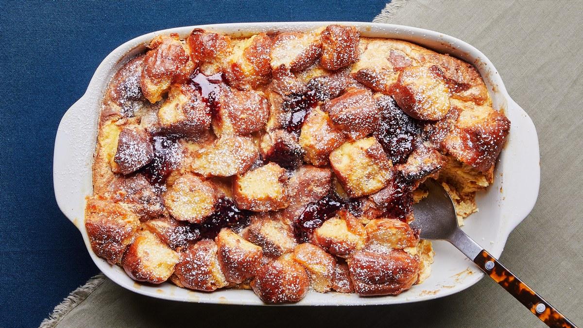 <pre>Pudding de pain aux beignes