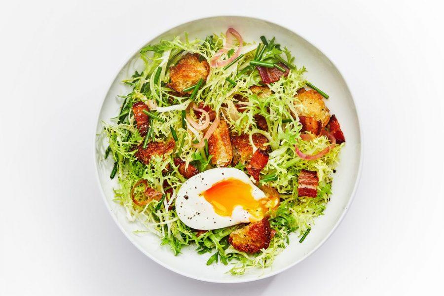 <pre>Salade Frisée Avec Vinaigrette Au Bacon