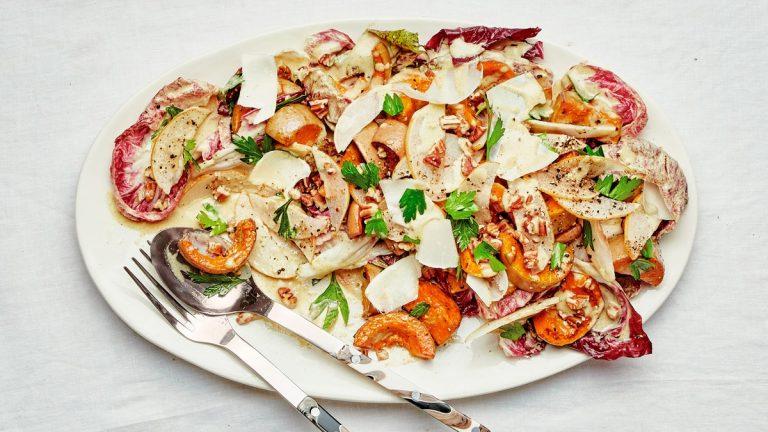 Salade de courge et radicchio