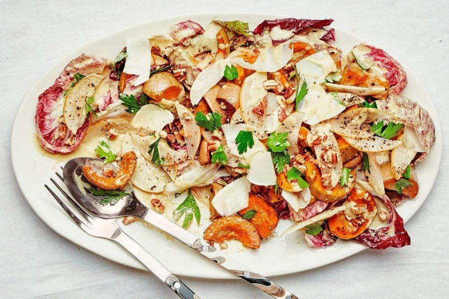 <pre>Salade de courge et radicchio