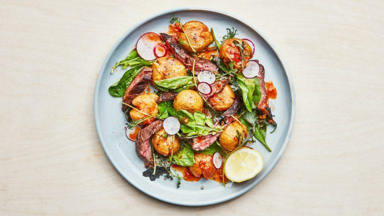 Steak Salade Aux Pommes De Terre