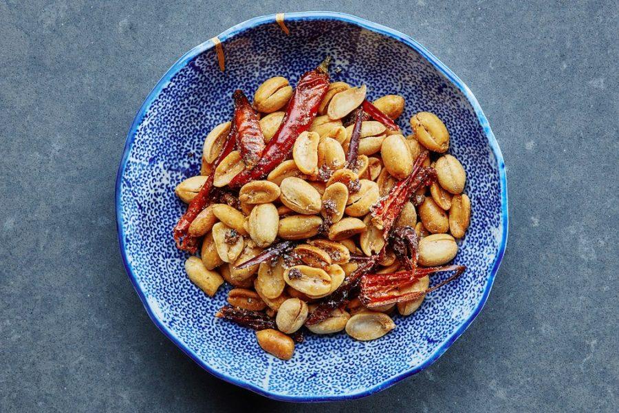 <pre>Cacahuètes Frites Mala