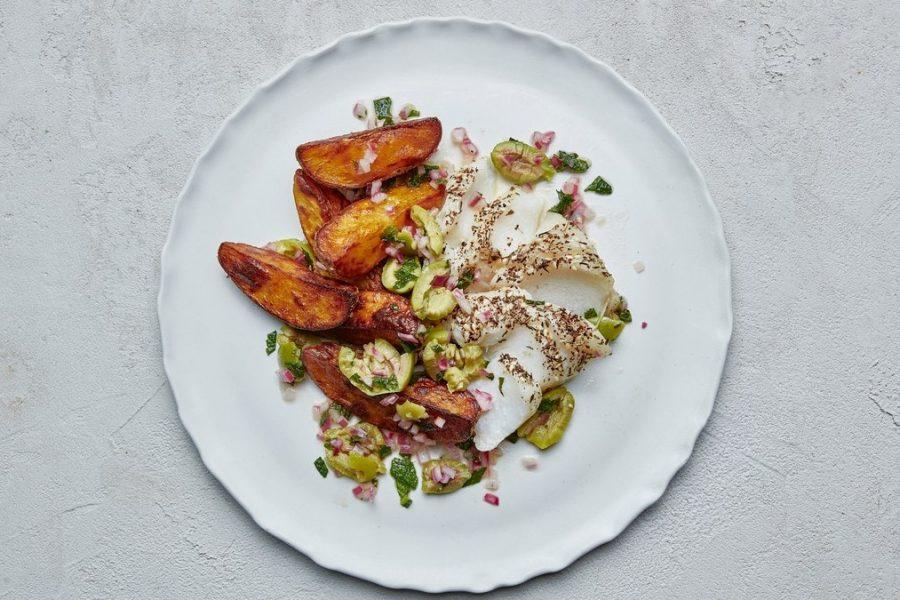 <pre>Fish and Chips Za'atar