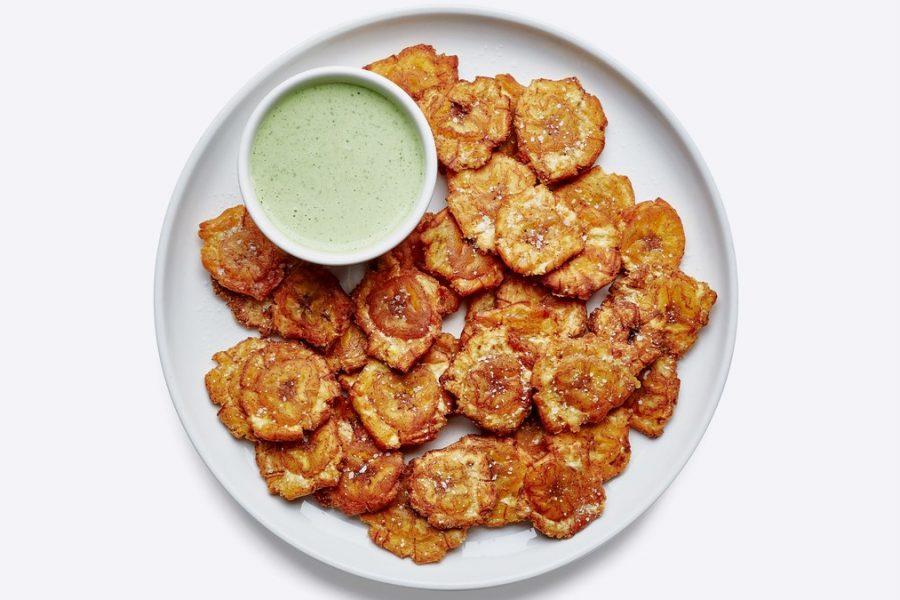<pre>Tostones avec sauce verte
