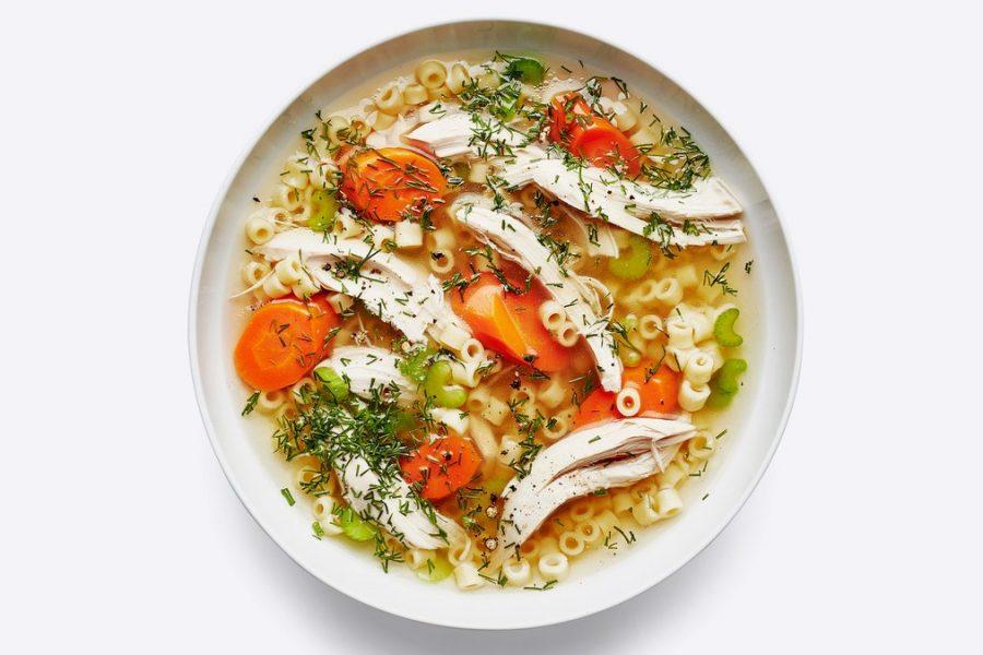 <pre>Soupe de poulet et nouilles classique