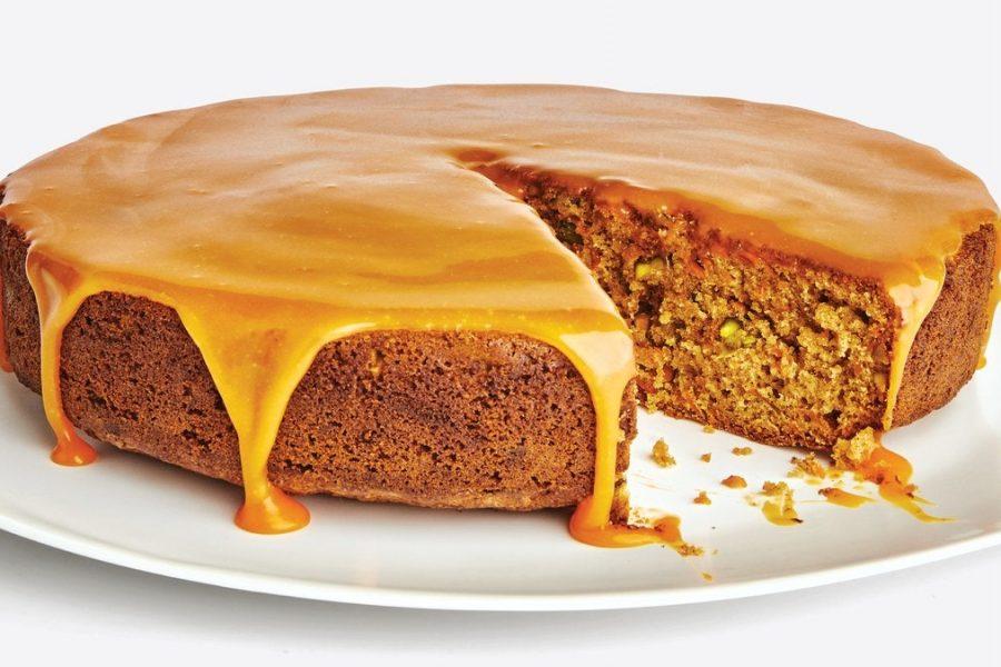 Gâteau aux carottes cardamome-pistache