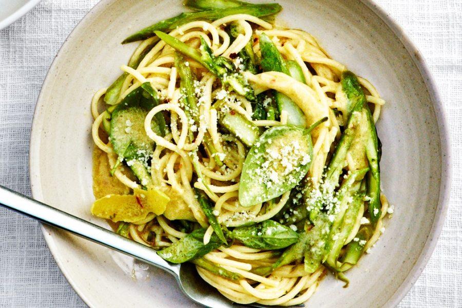 Spaghetti al Limone aux asperges