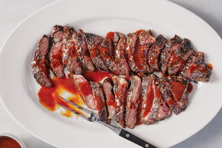 Bifteck de jupe avec BA.1. sauce