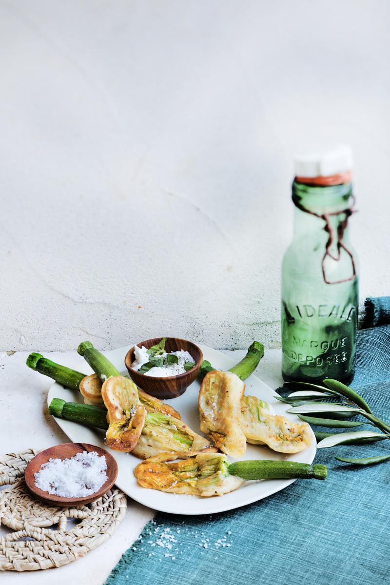 Beignets de fleurs de courgettes au mascarpone | Recette Cuisine