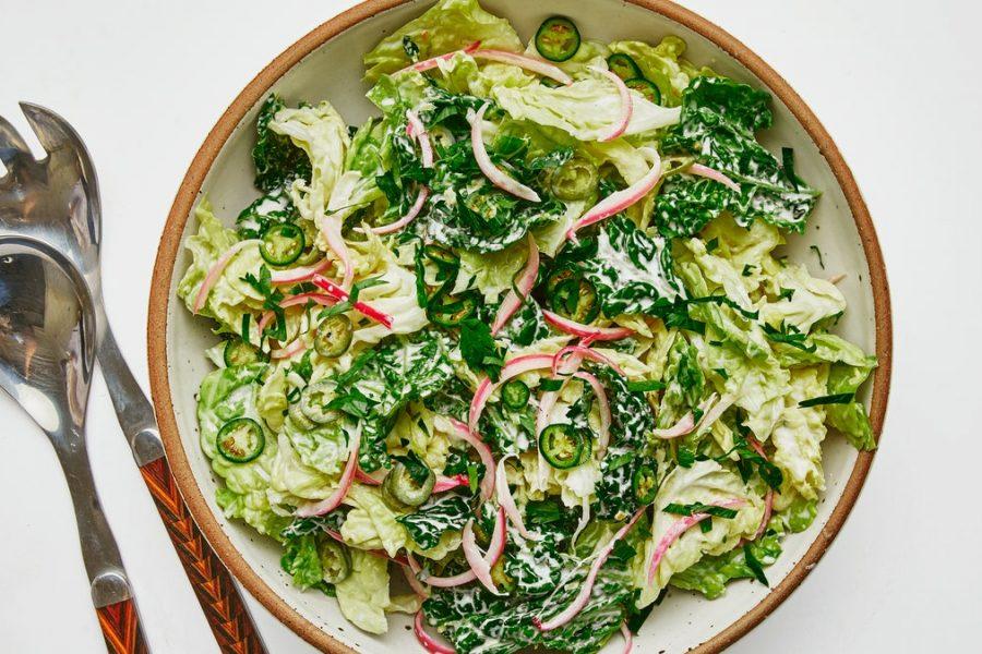 Salade de chou épicée et crémeuse