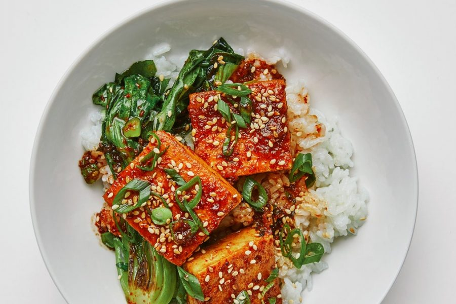 Tofu braisé épicé