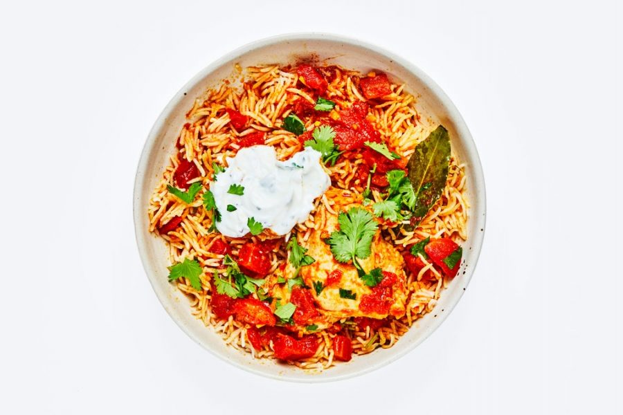 Poulet Tomate Pulao