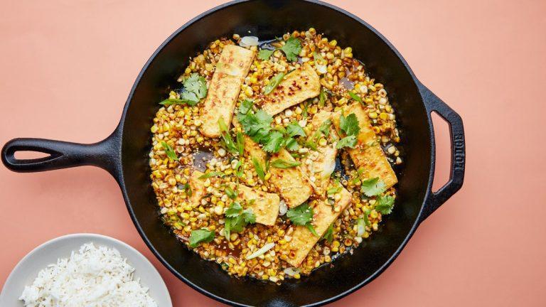 Tofu au maïs au beurre de soja