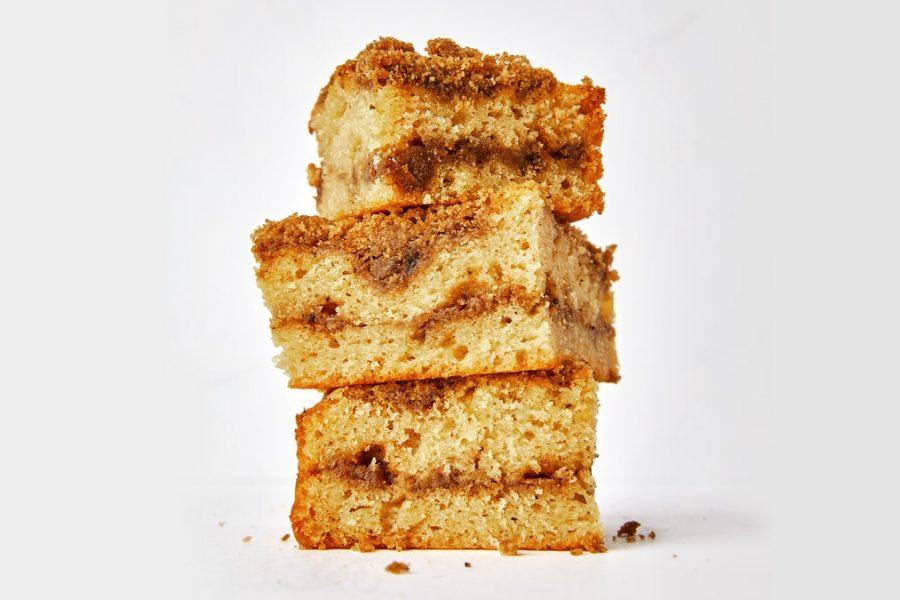 Gâteau chai avec streusel au beurre brun et au ghee