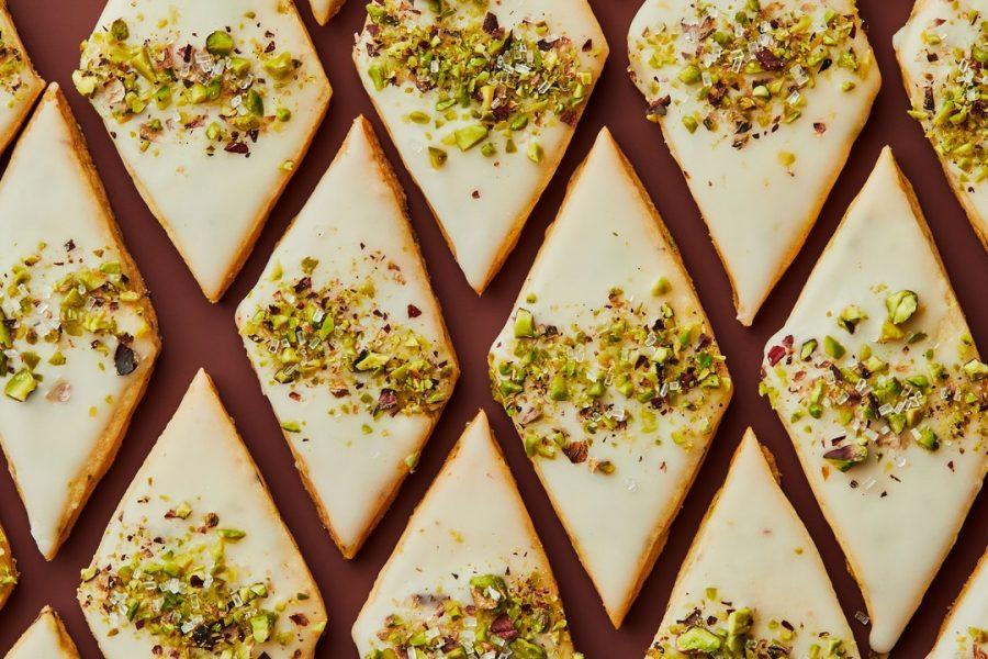 Sablés au beurre noisette et pistaches