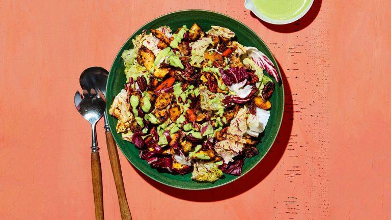 Champignons grillés et légumes racines