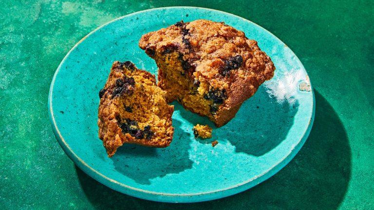 Muffins aux bleuets et épeautre