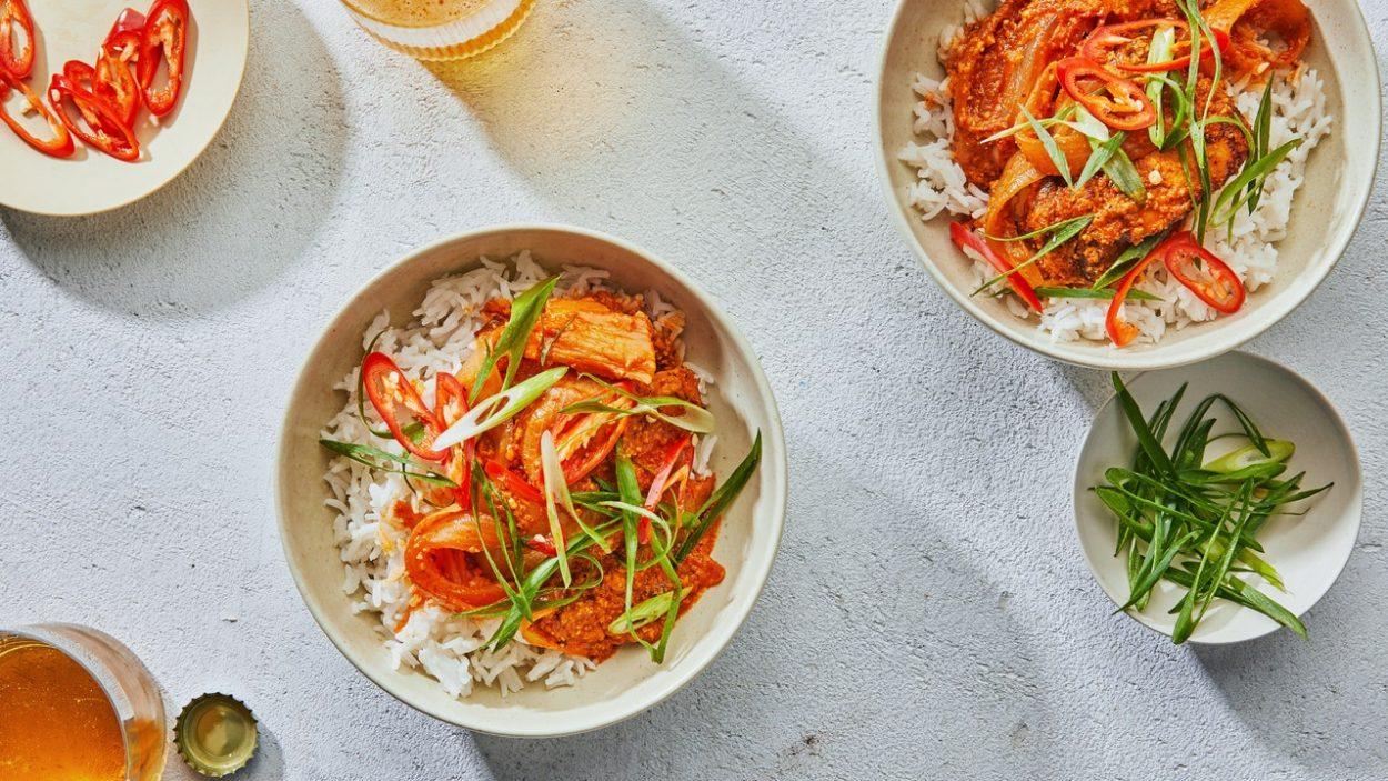 Poulet au kimchi au beurre