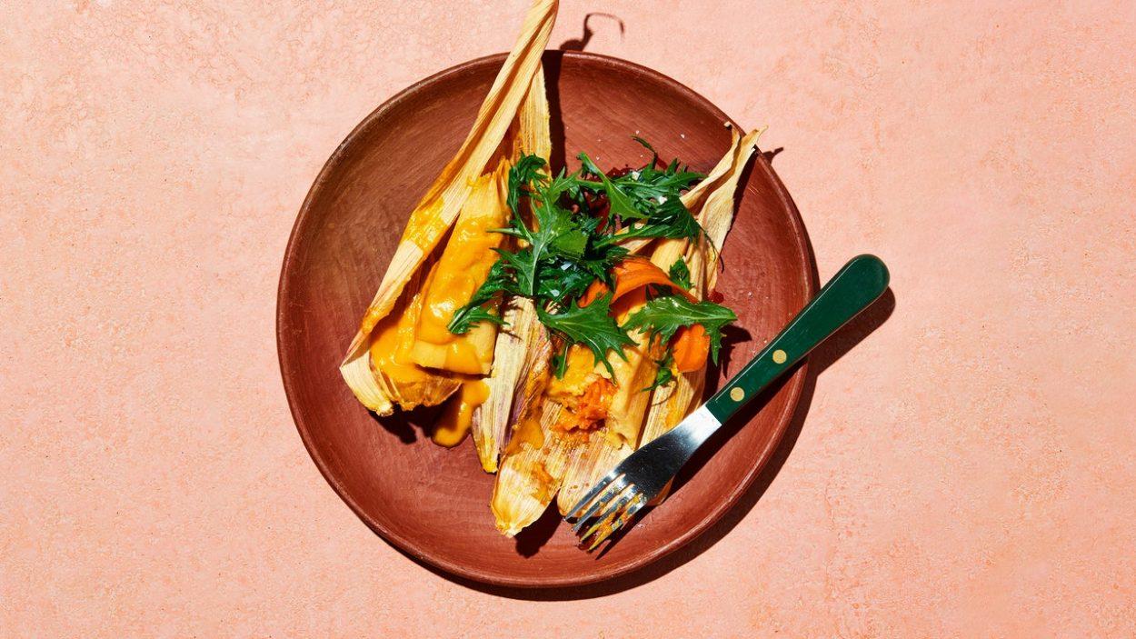 Tamales aux carottes et habanero