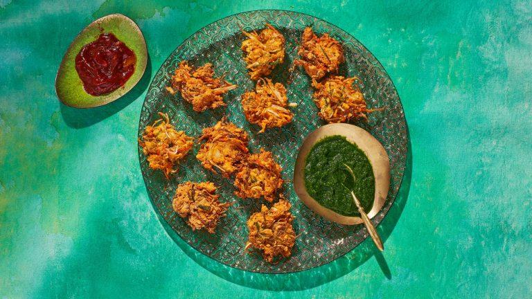 Bhajia aux légumes de printemps